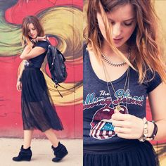 THE ROLLING STONES (by Michelle Madsen) http://lookbook.nu/look/4423187-THE-ROLLING-STONES