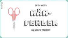 Diese Nähfehler machen sowohl Näh-Neulinge als auch Näh-Fortgeschrittene. Lies jetzt, welche Fehler du vermeiden solltest, um Zeit & Nerven zu sparen. Sewing Machine Projects, Sewing Projects For Beginners, Sewing Patterns Free, Free Sewing, Fat Quarter Projects, Sewing Art, Knitted Headband, Pattern Drafting, Sewing For Kids