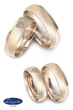 obrączki ślubne z różowego złota z diamentami #rosegold #złoteobrączki #biżuteriaślubna #weddingrings #diamonds