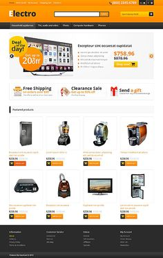 OpenCart Template #45570 from TemplateMonster. Visit us at www.qarve.com or contact us at contact@qarve.com for OpenCart installation, configuration and maintenance. #ecommerce #cms #webdesign #website #hosting #webhosting #shoppingcart #paypal #seo #sem
