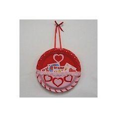 Paper Plate Valentines Holder