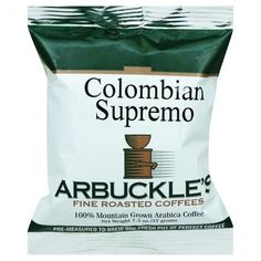 Arbuckles' Coffee - Colombian Supremo - 1.3 Oz - Case Of 10