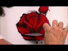 ESPATULA FLOR How to Paint a Red Rose in Oil with a Palette Knife in only 10 minutes. Ahuva Shweiki