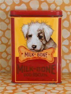 Milk Bone Dog Biscuit Tin at T-World Design - http://etsy.me/1EOeGoN