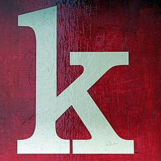 letter K by Leo Reynolds, via Flickr