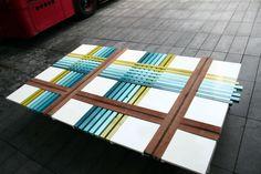 Furniture:Interior Home Furniture Design With Colorful Plaid Bench Design Looks Great And Unique For Home Decorating Interesting Bench Desig. Find Furniture, Home Furniture, Furniture Design, Bench Designs, Dezeen, Edge Design, Quilt Making, Design Inspiration, Interior Design