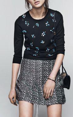 Embroidered Merinos Sweater by Nina Ricci for Preorder on Moda Operandi