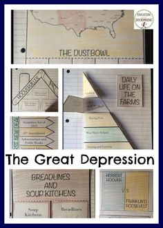 It's all about the Great Depression with this Interactive Notebook graphic organizer set.  I use these with inquiry activities to help students organize, analyze and reflect on the major themes of the period.