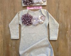 Newborn Girl Take Home Outfit, Gray Baby Outfit, Coming Home Outfit, Baby Girl Clothes, Newborn Girl Outfit Baby Shower Gift Fancy Baby Gown - Jonah Grace - HOME Newborn Tutu, Newborn Girl Outfits, Take Home Outfit, Coming Home Outfit, Outfits Niños, Kids Outfits, Baby Outfits, Toddler Outfits, Toddler Girls