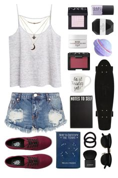 """""""~HOW TO IDENTIFY STARS~"""" by oliviajob ❤ liked on Polyvore featuring mode, MANGO, One Teaspoon, Charlotte Russe, NARS Cosmetics, Pelle, Fresh, Primitives By Kathy, Vans en Givenchy"""