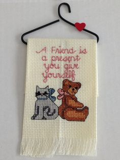 A creative decorative towel, perfect for the friend who has always been there for you. Order it today from my Etsy shop.