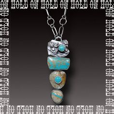 RESERVED ROYSTON TURQUOISE Necklace Stone on Stone by xaosart
