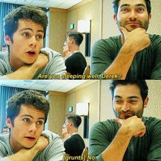 Dylan O'Brien imitating Derek