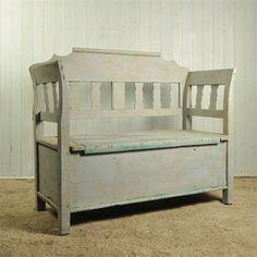 19 th Century Hungarian Box Bench - Vintage Furniture - Original House
