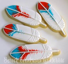 Fantastic Feather Cookies by Sweet Creations by Debbie