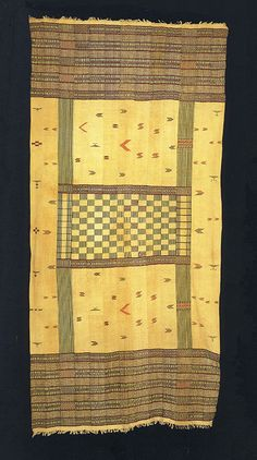 Africa   Display cloth / hanging, Sierra Leone, Collected circa 1900 by Hans or Fritz Ryff. collection #S.L 505 Historisches Museum, Bern, Switzerland.