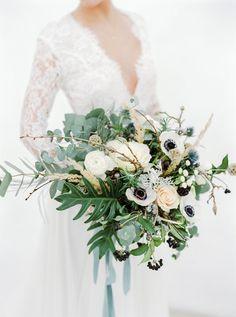 Winter wedding bridal bouquet by Melanie Nedelko fine art wedding photographer