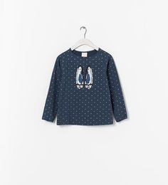 Image 1 of T-SHIRT WITH SHOE PRINT from Zara