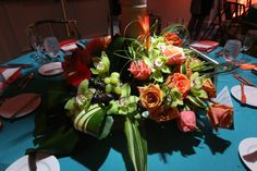 Flowerful Events | May 2014 | Ocean Place Resort and Spa | Tall Centerpiece | Tropical Wedding | Flowerful Events