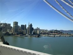 View of the SF Skyline from the Bay Bridge.