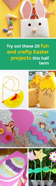 Half term and Easter are coming up making it the perfect time to try your hand at these 21 crafty projects that kids will love! If your