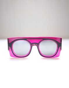 Keanu Pink Sunglasses by WANDA NYLON & PETER&MAY on aere-store.com