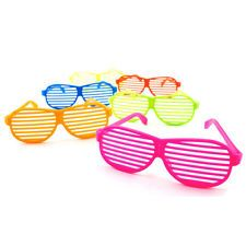 NEW 12pc Shutter Shades Hip Hop Glasses Multiple Colors Party Favors 80s Novelty (favors)