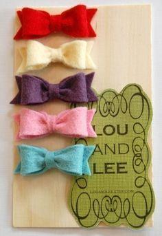 felt bow clips