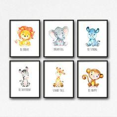 Animals Printable Nursery Art Jungle Animals Nursery Decor