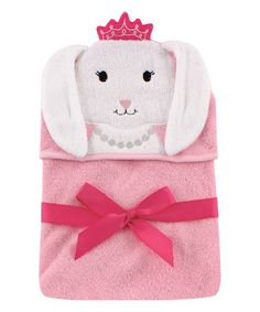 Look what I found on #zulily! Princess Bunny Animal Hooded Towel #zulilyfinds