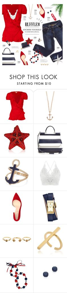 """""""Anchor Yourself"""" by happilyjynxed ❤ liked on Polyvore featuring For Love & Lemons, Minor Obsessions, Judith Leiber, Dolce&Gabbana, Shoes of Prey, Old Navy, Tory Burch, House of Harlow 1960, Schield Collection and Kate Spade"""