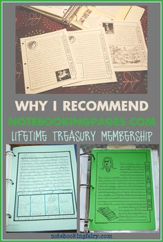 Why I Recommend Lifetime Treasury Membership from NotebookingPages.com • a homeschool curriculum review