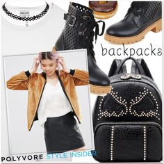 Rule School: Cool Backpacks by paculi on Polyvore featuring polyvore, мода, style, Helene Berman, fashion, clothing, backpacks, contestentry and PVStyleInsiderContest