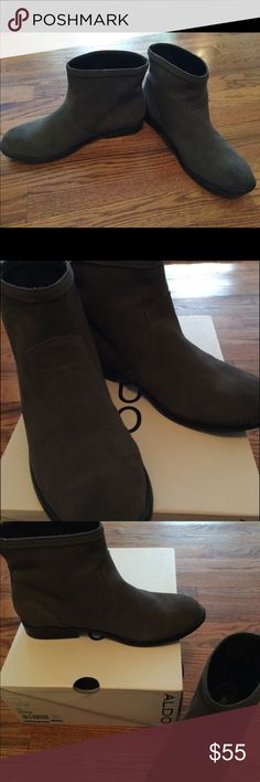 ALDO Elyse Semi boots Worn only once. EUC Aldo Shoes