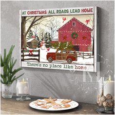 Christmas Wall Art Canvas Christmas Wall Art Canvas, Canvas Wall Art, Canvas Prints, Home Wall Art, Home Art, Canvas Material, Cotton Canvas, Holiday Decor, Crafts