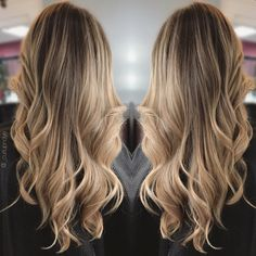 Blonde Balayage hairpainting