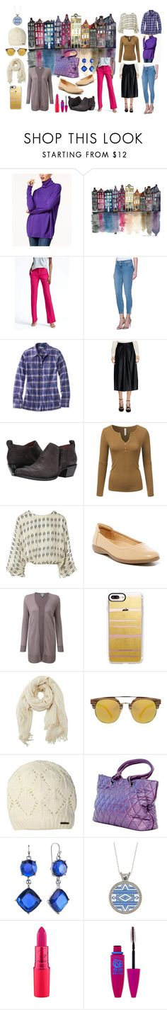 """""""Netherlands in fall"""" by moestesoh ❤ liked on Polyvore featuring Eileen Fisher, Banana Republic, 2nd One, L.L.Bean, KAOS, Frye, Doublju, Lanvin, Naturalizer and Pure Collection"""