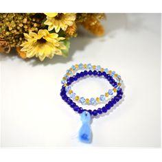 Püsküllü Kristal İkiz Bileklik (Tasseled Crystal Twin Bracelet)