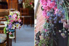 Church and doorway wedding flowers