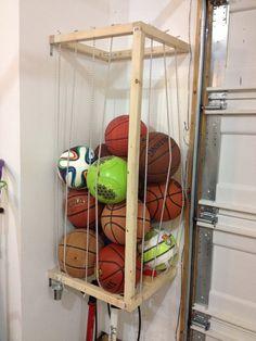 Ball Storage On Pinterest Ball Storage Garage And