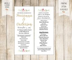 A personal favorite from my Etsy shop https://www.etsy.com/listing/226497378/printable-wedding-program-baby-blue