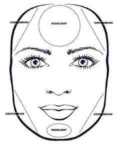 How to contour a square face shape.
