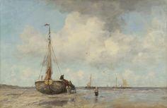 Jacob Maris - Bomschuit op het strand van Scheveningen (1895)
