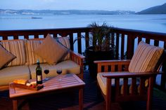 View of the Knysna Heads from your room Knysna, Lodge Decor, Porch Swing, Outdoor Furniture, Outdoor Decor, Lodges, Luxury, South Africa, Room