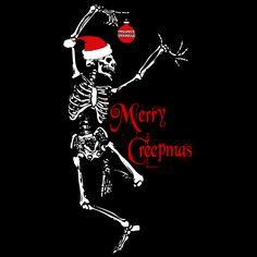 Merry Creepmas - T-shirt All I Want For Christmas, Merry Christmas, Dark Christmas, A Christmas Story, Little Christmas, Christmas Meme, Christmas Stuff, Halloween Fabric, Halloween Trees