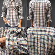 Vintage Men's Plaid Western Snap Down - pinned by pin4etsy.com