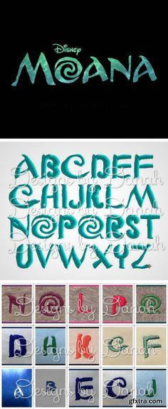 Disney Moana Font