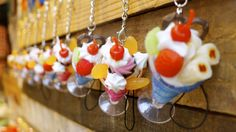 how cute are these ice cream sundae key rings!?