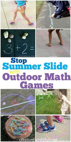 Have some summer fun and do some learning at the same time with these outdoor math games. It's a great way to stop summer slide!