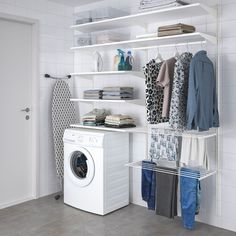 Laundry Room Layouts, Laundry Room Remodel, Laundry Room Organization, Laundry Room Design, Utility Room Storage, Ikea Utility Room, Laundry Room Drying Rack, Ikea Laundry Room Cabinets, Laundry Room Shelving